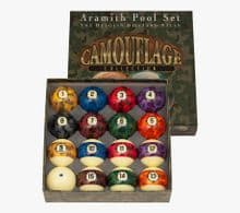 """Aramith Special Camouflage 2 1/4""""(57mm) Spots Stripes American style Pool Balls"""